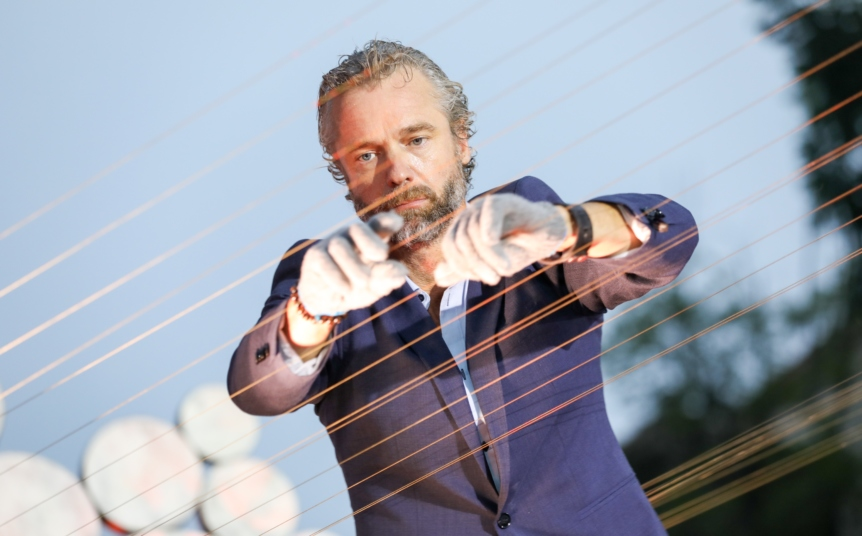 William Close and the Earth Harp Collective back in China